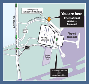 Mitchell Airport Map International Arrivals Terminal :: Mitchell Airport