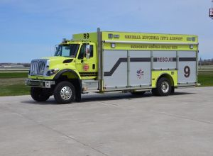 Yellow R9 Rescue Fire Truck