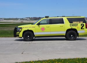 Yellow fire chief truck